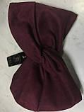 Широка пов'язка-чалма з экозамши колір бордо, фото 2