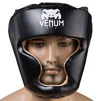 Al Боксерский шлем защитный для бокса закрытый Venum Flex M черный M83-280882