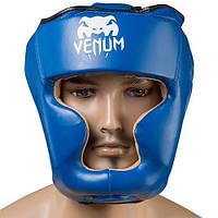 Al Боксерский шлем защитный для бокса закрытый Venum Flex S синий M83-280883
