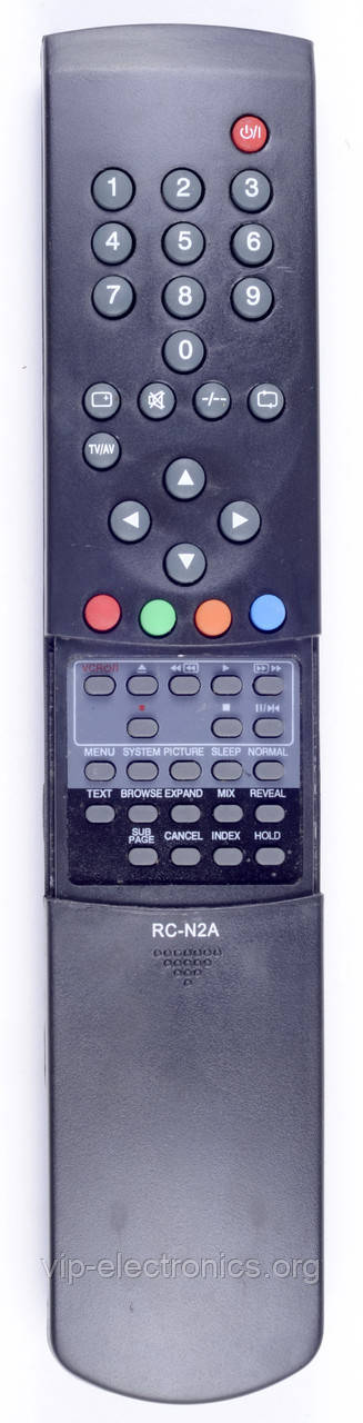 Пульт Akai  RC-N2A (TV.VCR) з ТХТ як оригінал