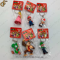 "Набір брелків Маріо - ""Mario Heroes"" - 6 шт"