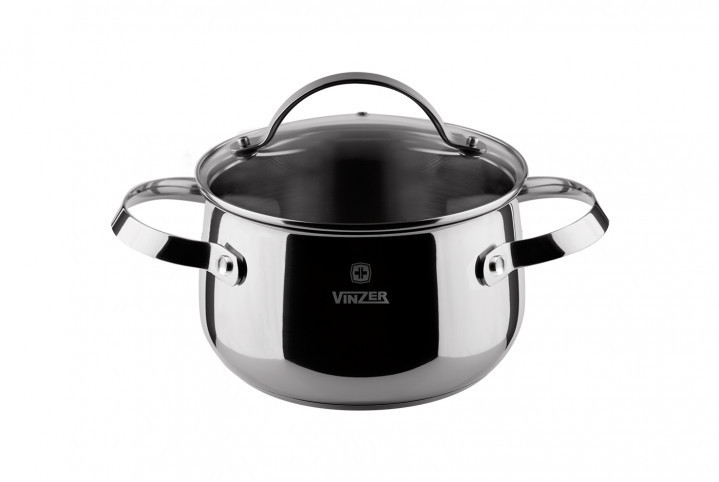 Кастрюля на 2.4л d=18см Vinzer VZ-89166