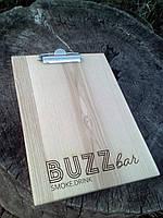 Планшет из дерева для меню (А4), фото 1