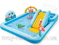 """Детский надувной игровой центр """"Приключения в джунглях"""" , Intex 57161 NP, 257*216*84см"""