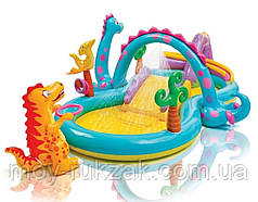 """Детский надувной игровой центр """"Планета динозавров"""" Intex 57135, 333*229*112см"""