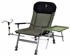 Карповое кресло Elektrostatyk FK5 ST/P с подлокотниками, столиком, держ. удочки. (до 150 кг)