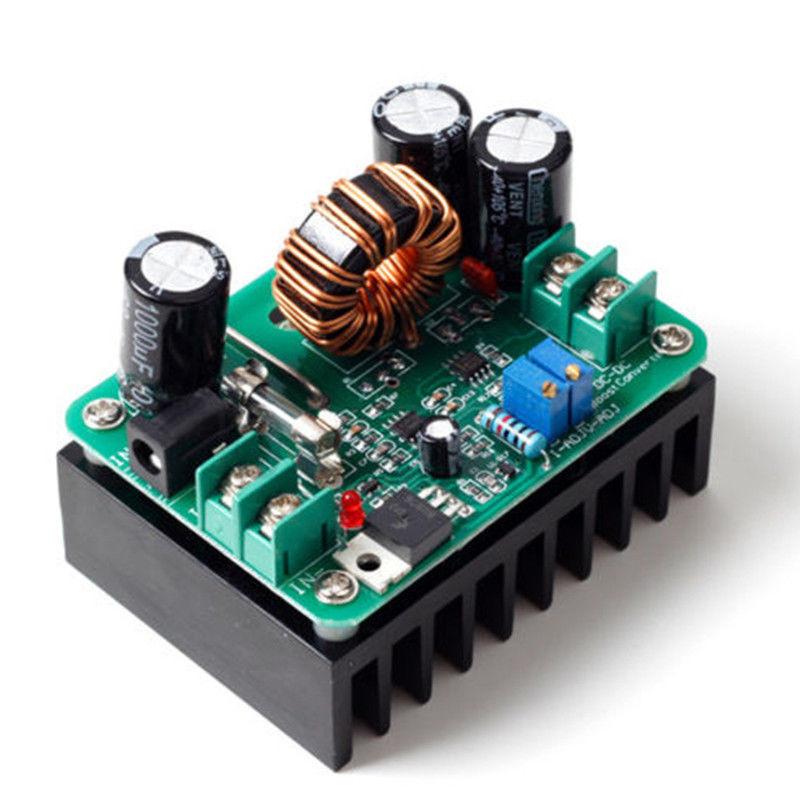 Повышающий конвертер тока, 10-60В на 12-80В, 600Вт