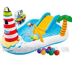 """Детский надувной игровой центр """"Весёлая рыбалка"""" , Intex 57162 NP, 218*188*99см"""