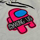 Худи для подростка SmileTime Gamer, серое с розовым, фото 2