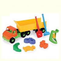 Игрушечный грузовик City Truck с прицепом 68 см + набор для песка IML