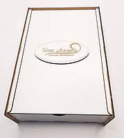 Коробка для подарков с выдвижной крышкой белая ДВП 40х20х6см