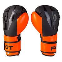 Боксерские перчатки FGT, Flex, 12oz, оранж/черный