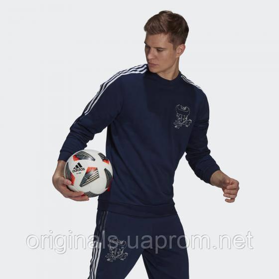 Свитшот спортивный Арсенал Адидас CNY GK9401 2021мужской синий