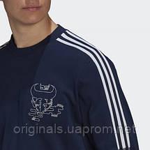 Свитшот спортивный Арсенал Адидас CNY GK9401 2021мужской синий, фото 3