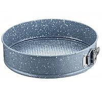 """Форма для выпечки разъемная круглая Stenson MH-3774 """"Мраморное покрытие"""" 18*6.8 см"""