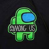 Кофта худи молодежная SmileTime Амонг Ас Umong US Gamer, темно-синяя, фото 4