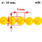 Намистини 10 мм Скляні під Перли для Біжутерії Жовті Золоті, Перламутрові тон 56,, фото 2