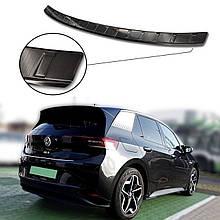 Захисна накладка на задній бампер для VW ID.3 2020+ / чорна нерж.сталь/