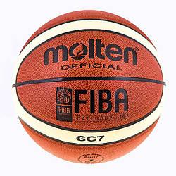 Go Мяч баскетбольный для улицы, зала, стритбола Molten 7 PU GL-7 полоса M83-282466