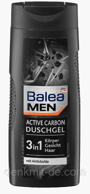 Гель для душа Balea Men 3in1 Active Carbon 300мл