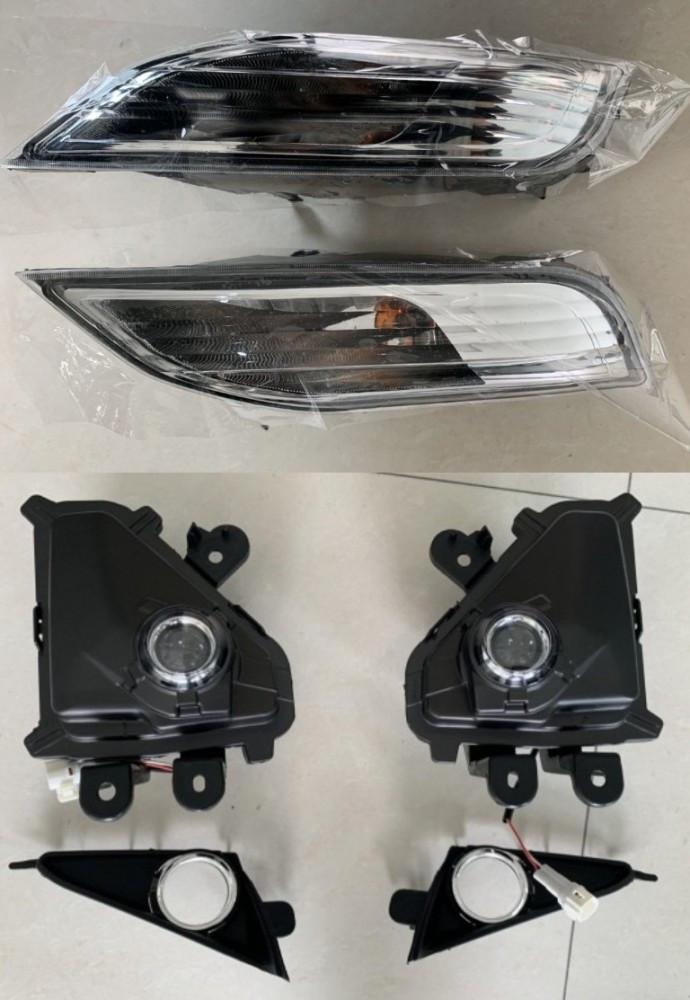 Led туманные фары + заглушки + указатели поворота Lexus GX 460 2014-2021 (левая+правая)