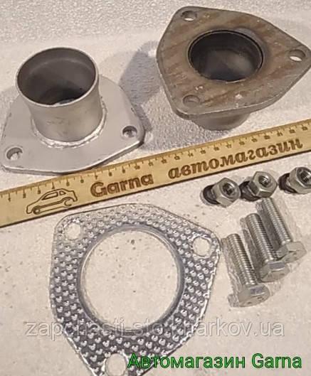 З'єднувач, муфта вихлопної системи, труби глушника д. 50мм (трикутник)