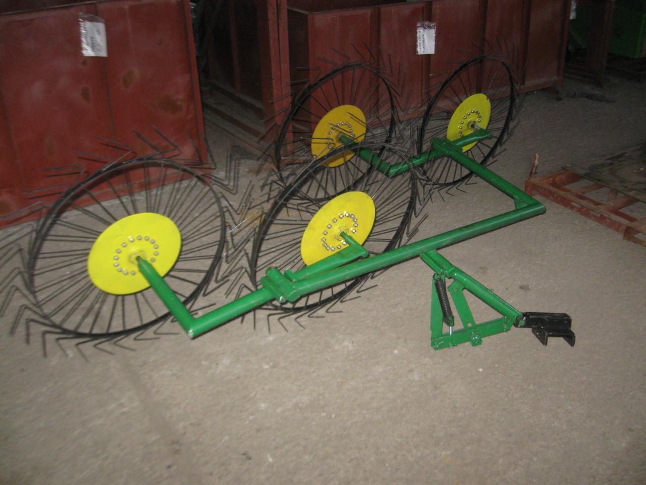 Грабли-ворошилки «Солнышко» ГВР-4 (с креплением к трактору; 4-х колеса)