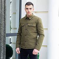 """Мужская коттоновая куртка - рубашка Pobedov Jacket """"IPO"""" без капюшона, демисезонная куртка, цвет хаки, фото 1"""