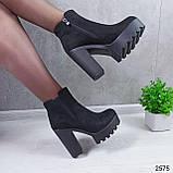 Женские ботильоны на устойчивом каблуке, фото 9