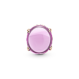 """Серебряный шарм Pandora """"Розовый овальный кабошон"""" 789309C02, фото 2"""