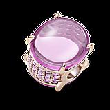 """Серебряный шарм Pandora """"Розовый овальный кабошон"""" 789309C02, фото 3"""