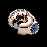 """Серебряный шарм-клипса Pandora Rose """"Синее сердце солитер"""" 789203C02, фото 3"""