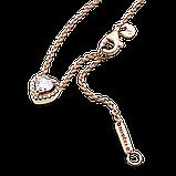 """Серебряное колье Pandora Rose """"Блестящее сердце"""" 388425C01, фото 4"""