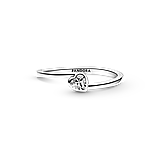 "Срібна каблучка Pandora ""Прозоре асиметричне серце"" 199267C02, фото 4"