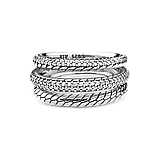 Срібна каблучка Pandora з ланцюговим орнаментом 199083C01, фото 3