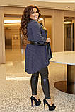 Женский нарядный костюм двойка туника+легенсы софт+эко кожа размер батал: 50-52, 54-56, 58-60, фото 5