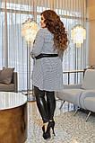 Женский нарядный костюм двойка туника+легенсы софт+эко кожа размер батал: 50-52, 54-56, 58-60, фото 3