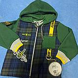 Костюм тёплый модный оригинальный красивый нарядный для мальчика. В комплекте кофта водолазка и джинсы., фото 2