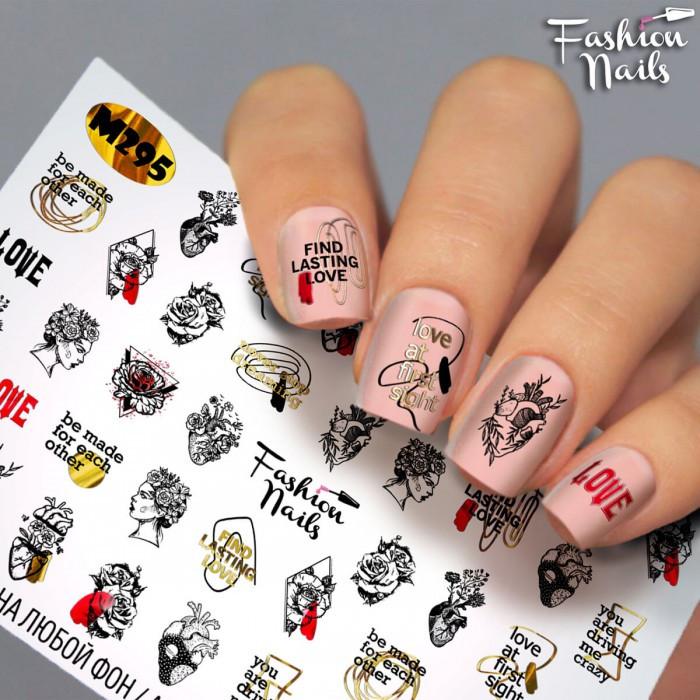 Слайдер-дизайн Надписи Модный Креатив наклейки на ногти для маникюра водные наклейки для ногтей Fashion Nails