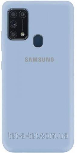 Силиконовый чехол Silicone Case для Samsung A31 Heavenly (Голубой)