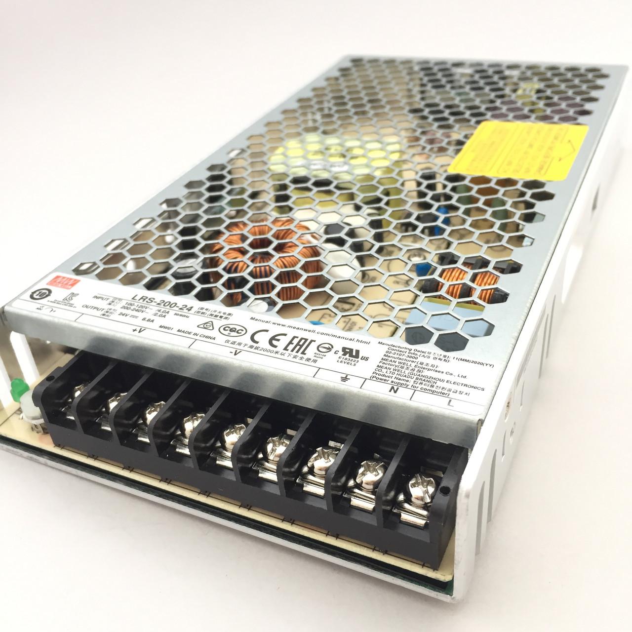 Блок питания 24В 200Вт для светодиодной ленты MEANWELL LRS-200-24 215x115x30 мм негерметичный