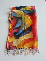 Женский шарф с розами из льна  Solar