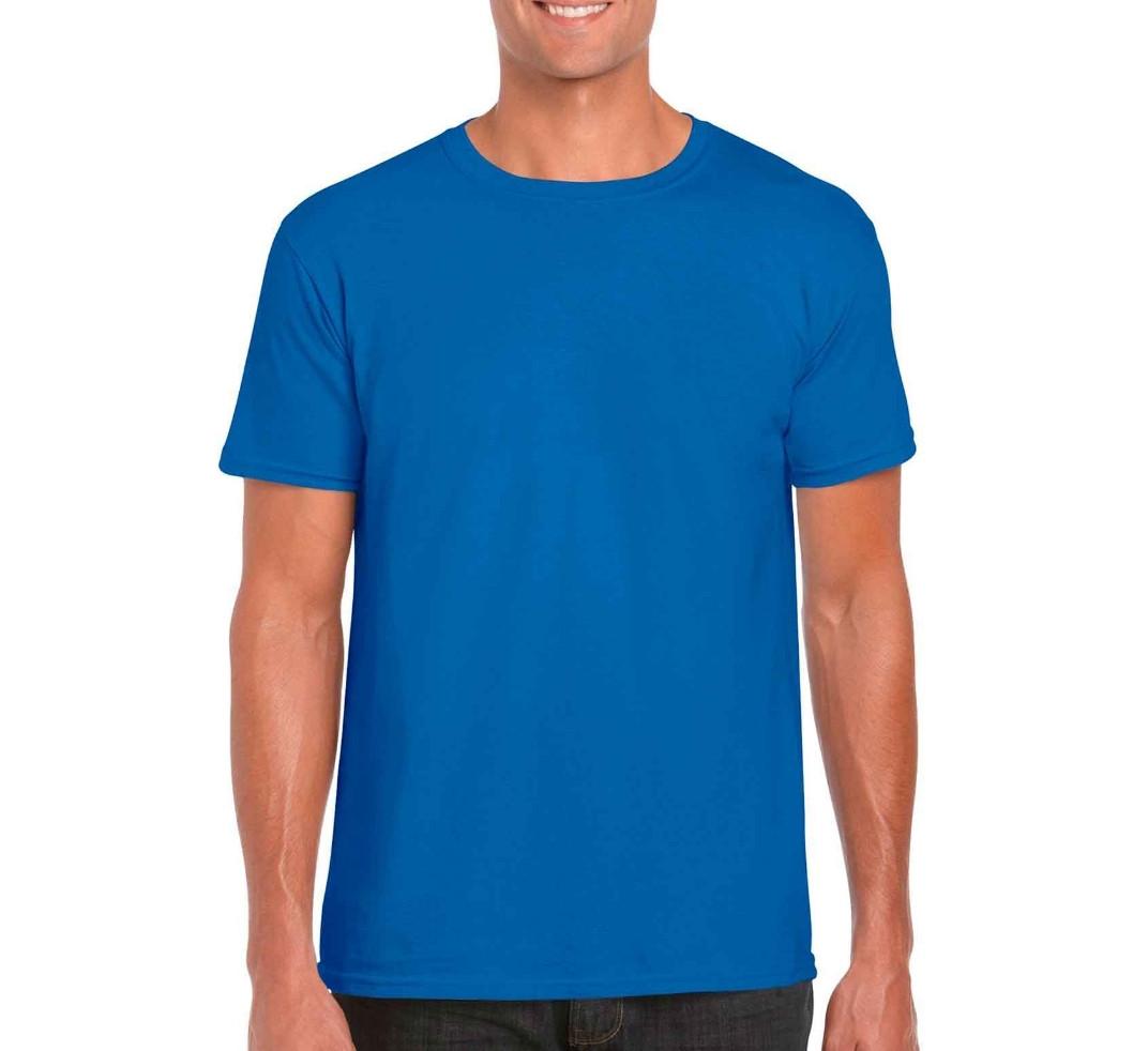Мужская нательная футболка однотонная из качественного турецкого трикотажа, цвет синий