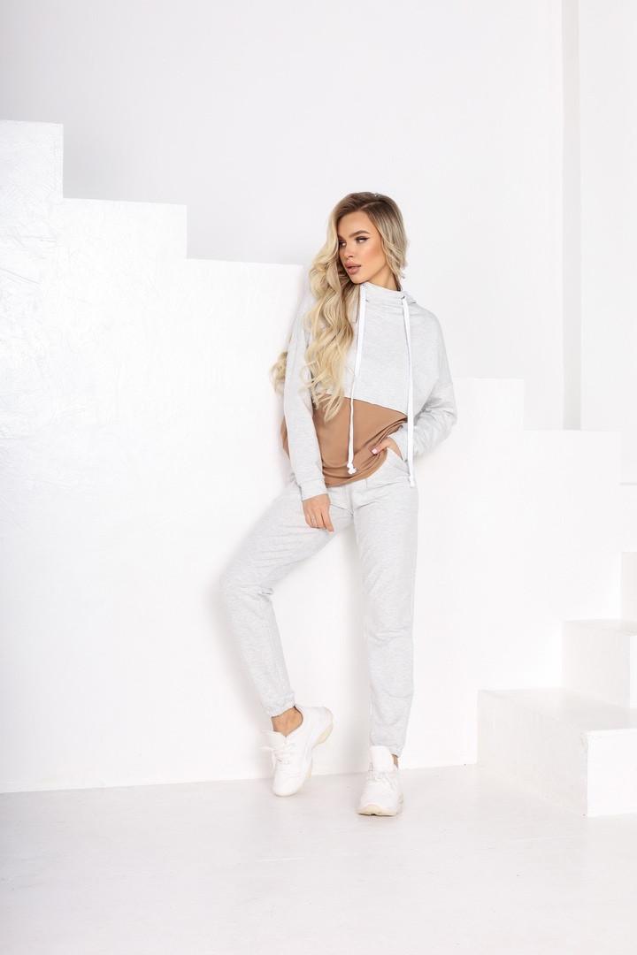 Женский спортивный костюм кофта батник и штаны двухнить размер батал:50-52,54-56