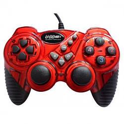 Ігровий комп'ютерний джойстик PC Double shok 2 DJ-FHJ906 Червоний