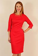 Коктейльное платье 44-50 р ( красный, электрик )