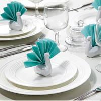 Набор держателей для салфеток Лебеди Peleg Design Белый