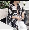 Красивый шелковый  платок палантин