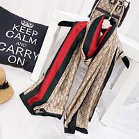 Шелковый платок палантин 2 цвета