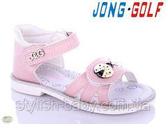 Дитяче літнє взуття оптом. Дитячі босоніжки 2021 бренду Jong Golf для дівчаток (рр. з 18 по 23)